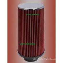 230mm altura rojo coche filtro de aire con 76mm / 89mm / 102mm universal