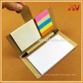 2016 novo produto personalizado logotipo reciclado papel papel pegajoso memorando conjunto de memorando