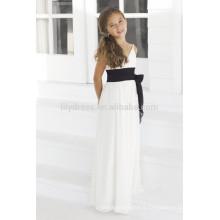 A-Line White Spaghetti Straps V-Neck sans manche personnalisée Flower Girl Dress FGZ12 Robes de fille en fleurs blanches UK