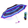 Strip 3 Fold Compact Aluminium Light Umbrella (YS-3FM21083938R)