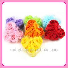 flores de jabón rosa en forma de corazón hermoso