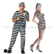 Custom Cosplay Cos Halloween Criminal Prisoner Clothes Costume