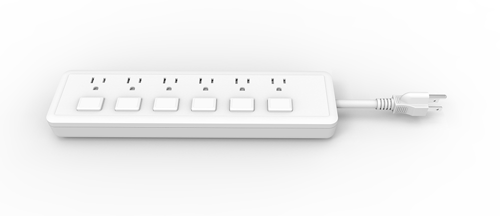 American Power Strip with Individual witches