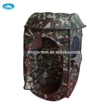 Blinded camouflage hunting tent