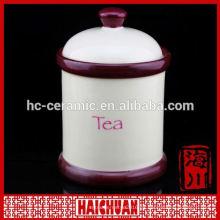 Nuevas jarras de jengibre de cerámica de diseño blanco