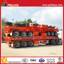 Hot 3axles Container Loader Skeleton Semi Container Trailer