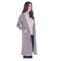 PK18A91HX 100% Pure Cashmere Long Coat Double Botton Full Length Overcoat with Hoodie