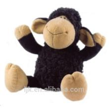 Juguete de la felpa de la oveja negra de la fábrica de ICTI
