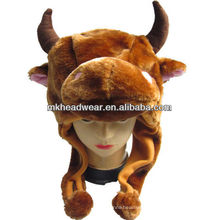 kids cute plush animal hat with fleece lining