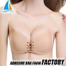 Cloth adhesive backless push up new bra images
