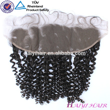 13*4 Malaysian Virgin Hair Curly Lace Frontal Piece