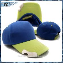 100% tela de algodón con botter abierto 5panel gorra de béisbol