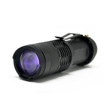 Mini Zoomable 365nm Led UV  Flashlight