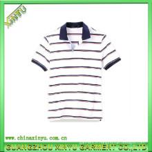Polo à rayures personnalisé de haute qualité Coton
