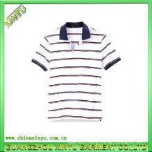 High Quality Custom Striped Polo Shirt Cotton