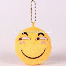 Promotional item wholesale plush keychain emoji high quality customized design plush key chain with logo