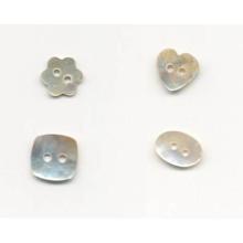 Novo design de moda em forma de botões de giro shell por atacado