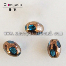 4mm coated crystal Faceted Bead