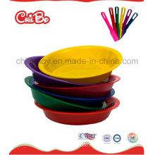 Mehrfarbige runde Kunststoff-Lebensmittel-Teller (CB-ED019-S)