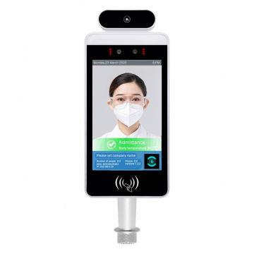 Terminal 8 Inch Checking Digital Kiosk Facial Access Control Displays Body Temperature Measuring Face Recognition