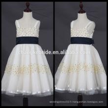 Baby Kids White Communion Dress A Line Longueur au genou Flower Girl Dress