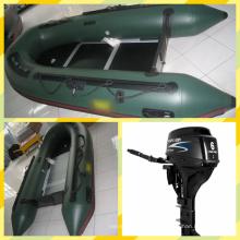 3.2m barco inflável militar com motor fora de borda