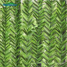 Cerca de folha verde artificiais ao ar livre revestido de UV pvc