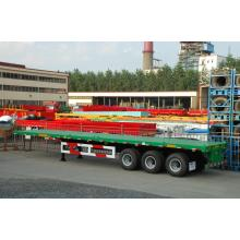 Hot Sale for for Flatbed Semi-Trailer 50T Tri-Axle Flatbed Semi-Trailer export to New Zealand Factory