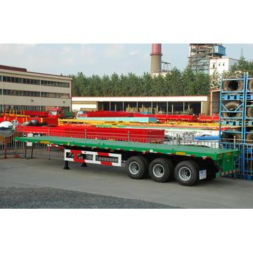 50T Tri-Axle Flatbed Semi-Trailer