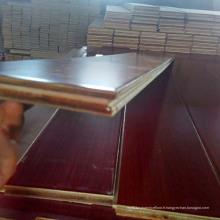 Plancher de bois d'ingénierie multicouche en teck