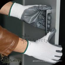 SRSAFETY 13G трикотажные нитриловые перчатки с нитом или нитриловые перчатки
