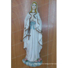 Personalizar Pure White Elegant Resin La escultura de la Virgen para la decoración de interior