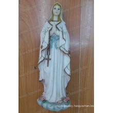 Customize Pure White Elegant Resin The Virgin Sculpture for Indoor Decoration