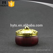 Pot en verre cosmétique cosmétique de haute qualité de 200ml avec le chapeau d'or
