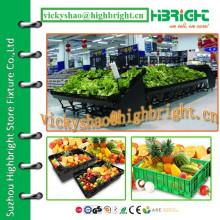 customized free organized metal supermarket vegetable rack set