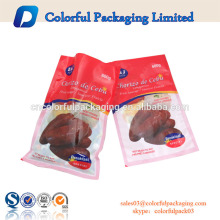 Breakfast food PA nylon vacuum bag three side sealed plastic packaging bags