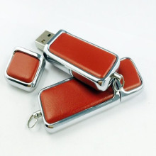 Cheap price for Leather Usb Flash Drive, Rectangle Leather Usb Flash Drive supplier of China Leather Key Chains Model USB Memory Stick supply to Jamaica Factories