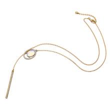 Простые Diamond длинные свежие дамы ожерелье