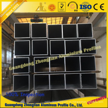 China Aluminum Manufacturs Supplies Tubo cuadrado de aluminio almacenado