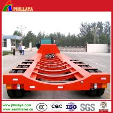 Remorque de transport à lame de vent extensible à 4 essieux
