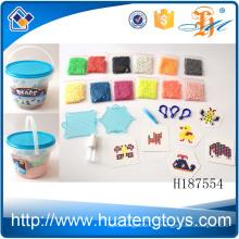 H187554 Derniers enfants embouteillés éducatifs bricolage en plastique assemblage perles d'eau jouets à vendre