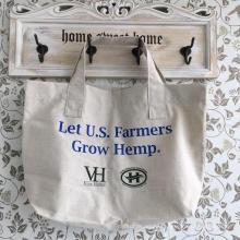 Bolsa de compras hecha a mano por encargo reutilizable del cáñamo