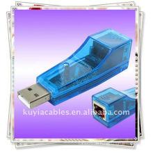 Nagelneues erstklassiges USB 2.0 ZU Ethernet LAN RJ45 Kartennetz 10/100 konverter Adapter