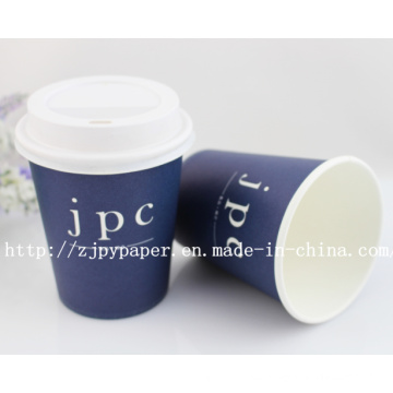 Customized Printed Single Wall Paper Cup with Lid-Swpc-60