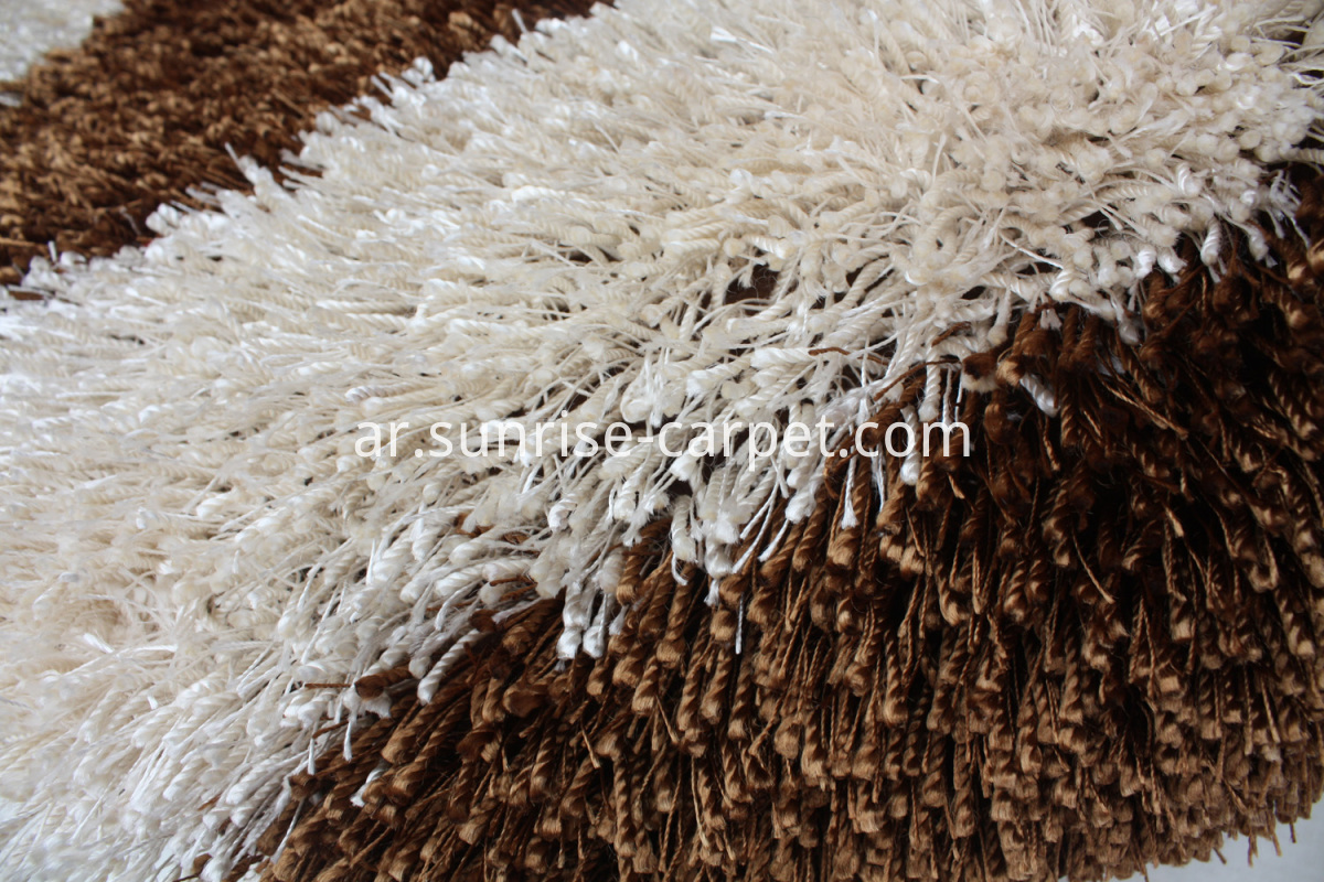 polyester shaggy rugs thick and thin yarn 3