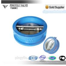 Ковкий пластинчатый клапан-бабочка обратный клапан гидравлический подпружиненный клапан-бабочка установочный обратный клапан цена производителя дренажа