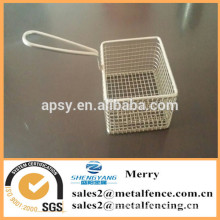 stainless steel mini chips fry basket for kitchen utensibs