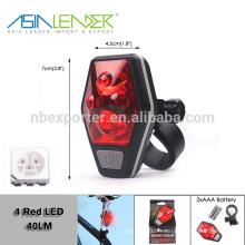 Asia Leader BT-4890 AAA Batterie Alimentation 4 Light Level LED Bike Tail Light