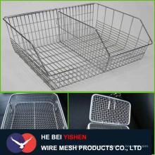 304 Cesta de malla de alambre de acero inoxidable para almacenamiento