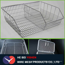 304 Stainless steel wire mesh basket for storage